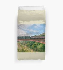 Taw Valley over the Severn Valley Duvet Cover
