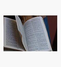 Jesus' Bible Photographic Print
