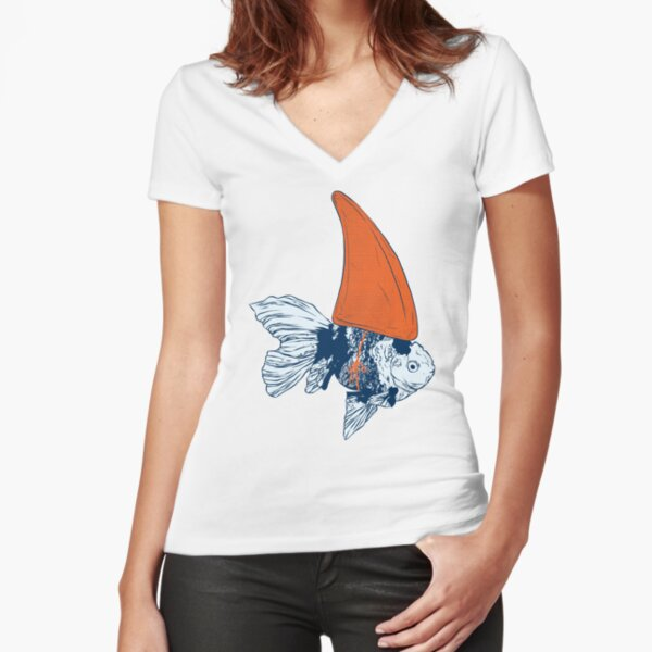Big fish in a small pond Fitted V-Neck T-Shirt