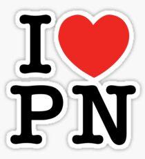 I Love Panem (for light tee's) Sticker