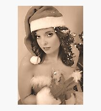 Vintage X-mas Pinup Style Photographic Print