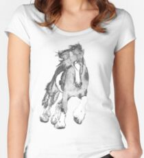 Thundering Hooves T Women's Fitted Scoop T-Shirt