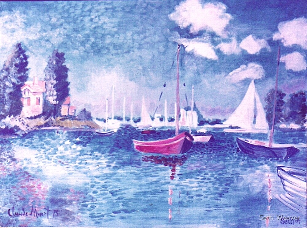 Normandy Bay, Study of Monet by Seth  Weaver