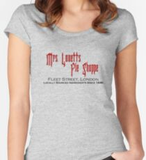 Mrs. Lovett's Pie Shoppe (Red/Black) Women's Fitted Scoop T-Shirt