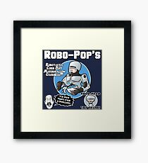 RoboPops Cereal Box Mashup Framed Print