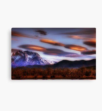 Lenticular Clouds over Torres del Paine Canvas Print