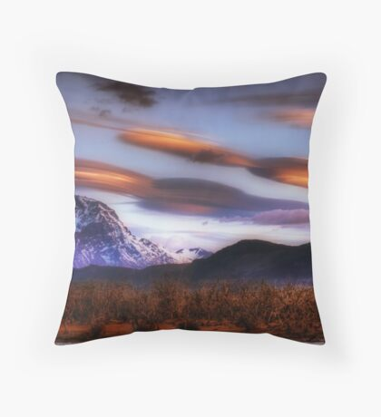 Lenticular Clouds over Torres del Paine Throw Pillow