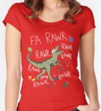 T-Rex Christmas Dinosaur - Dinosaur Christmas Women's Fitted Scoop T-Shirt