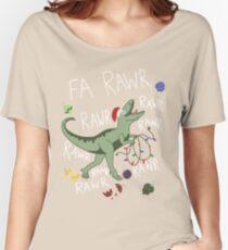 T-Rex Christmas Dinosaur - Dinosaur Christmas Women's Relaxed Fit T-Shirt