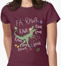 T-Rex Christmas Dinosaur - Dinosaur Christmas Women's Fitted T-Shirt