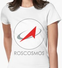 Russian Federal Space Agency (Roscosmos) Logo Womens Fitted T-Shirt