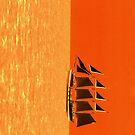 Sail Boat Orange by TheCuke