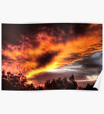 sunset in Kelmscott Poster