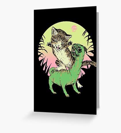 K-Rex & Pugosaurus Greeting Card