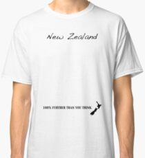 New Zealand - 100% Further Than You Think Classic T-Shirt
