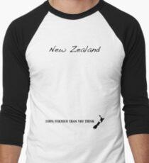 New Zealand - 100% Further Than You Think Men's Baseball ¾ T-Shirt