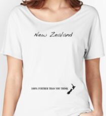 New Zealand - 100% Further Than You Think Women's Relaxed Fit T-Shirt
