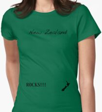 New Zealand - Rocks!!! Womens Fitted T-Shirt