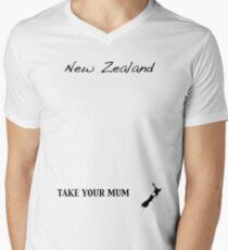 New Zealand - Take Your Mum Mens V-Neck T-Shirt