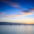 Winter sunset II by Steen Nielsen