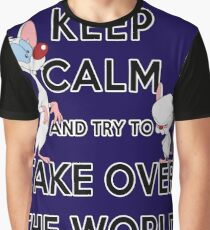 Keep Calm and Try to Take Over the World Graphic T-Shirt