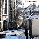 Christmas Card - Snow in Town by CarolineLembke