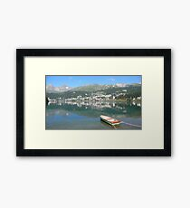 St. Moritz, Schweiz Framed Print