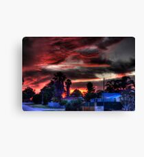 suburbia at sundown Canvas Print