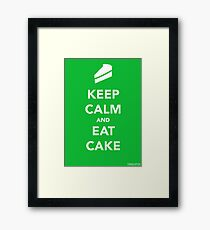 Keep Calm & Eat Cake Framed Print
