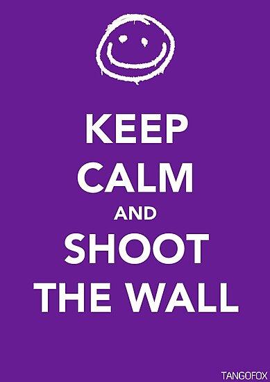 Keep Calm & Shoot The Wall by thetangofox