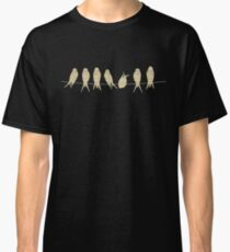 Birds on Wire with Musical Notes Classic T-Shirt
