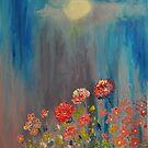 Moonlit Flowers by budrfli