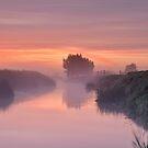 Misty River Sunrise, Glastonbury by Robin Whalley