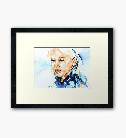 Portrait of lydia Framed Print