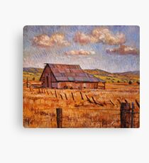Barn Near Hayden Hill Canvas Print