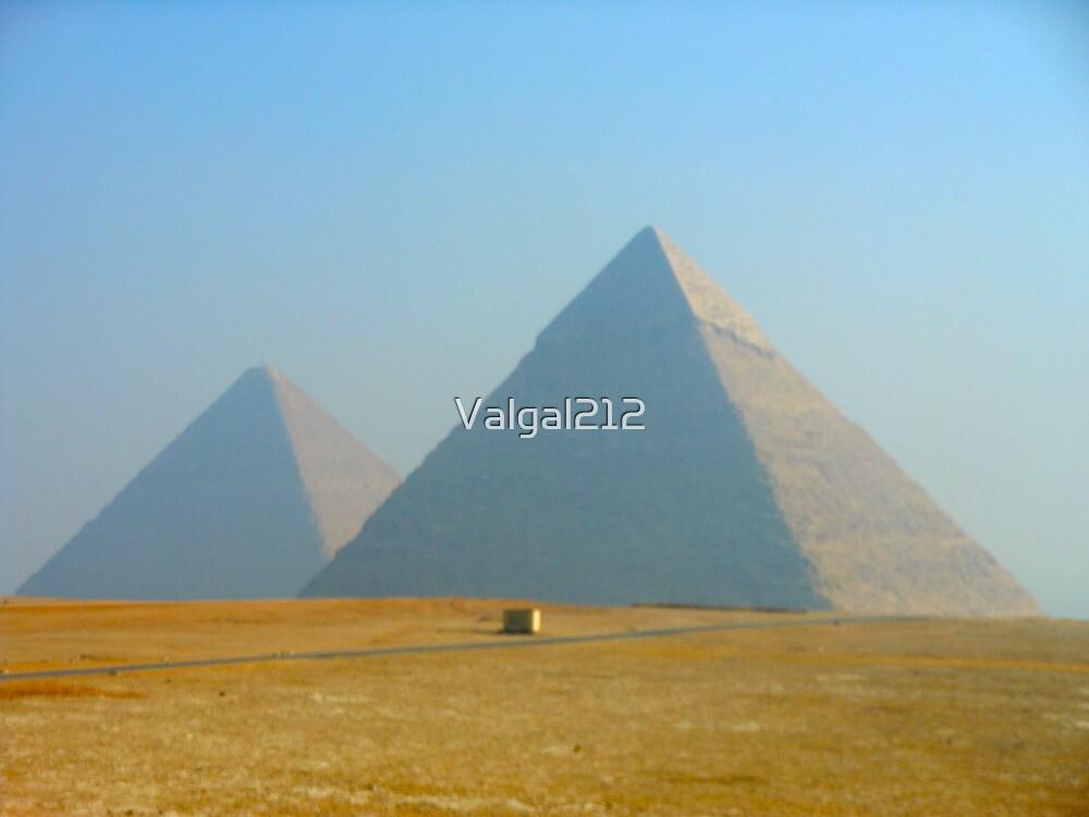 Misty Pyramids of Giza by Valgal212