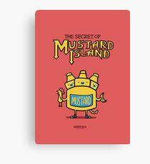 Look behind you, a three-headed mustard! Canvas Print