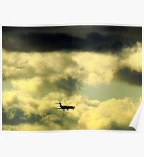 Flying through clouds Poster