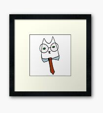 Cubicle Cat Framed Print