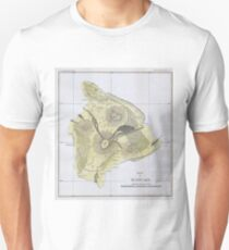 Vintage Map of Hawaii (1883) 2 Unisex T-Shirt