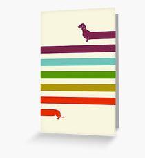 (Very) Long Dachshund Greeting Card