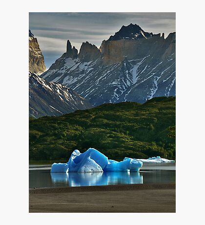 Iceberg and Mountains Photographic Print