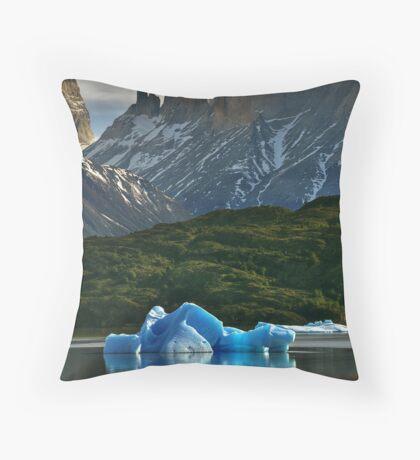 Iceberg and Mountains Throw Pillow
