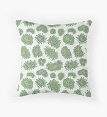 Soft Bacteria - Green Throw Pillow