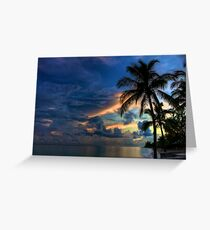 Sunset in the Bahamas Greeting Card