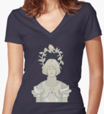 Joan of Arc Women's Fitted V-Neck T-Shirt