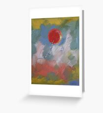 Goodbye Red Balloon Greeting Card