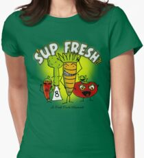 S'up Fresh?! Fresh Foods Movement Womens Fitted T-Shirt