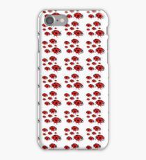 A cute black red dots lady bug pattern iPhone Case/Skin