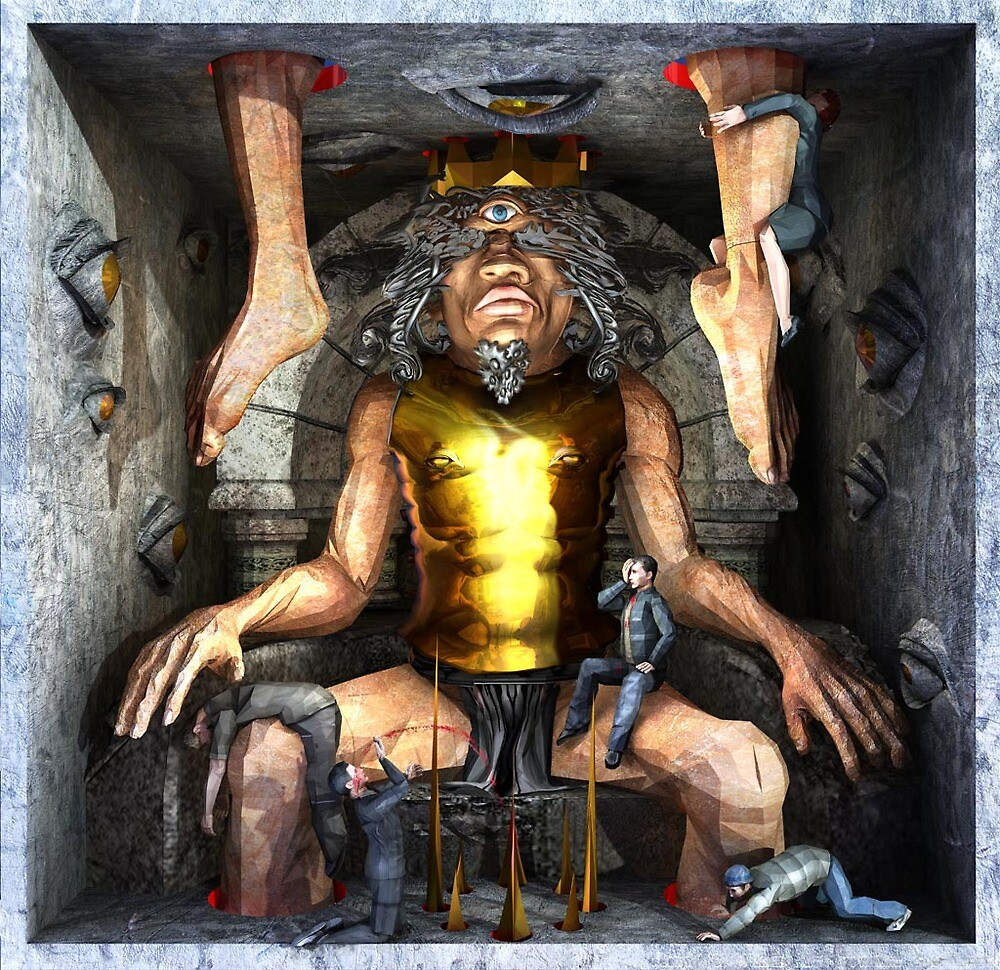 """Ecce Homo 117 """" THE ONE EYED KING """" by Polygonist"""